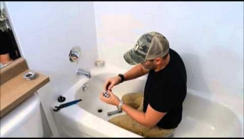 Install the new drain