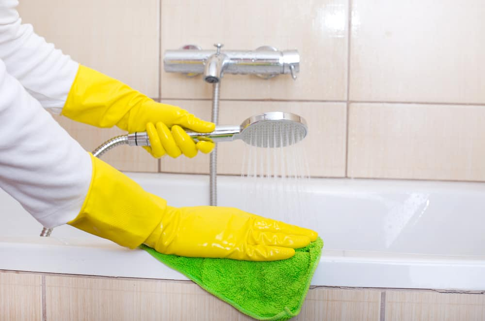 Rinse and Wipe the Bathtub thoroughly