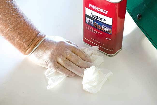 Wipe Down the Tub with Acetone 1