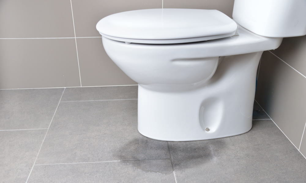 Leakages from the toilet bowl base